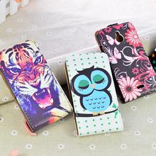 Luxury Flip Leather Case Cover For Nokia X2 Dual SIM RM-1013 for Nokia X2DS Phone Bags with Printing 5 Colors