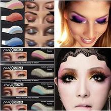 1box=6pairs Instant Eyeshadow sticker, magic eyes tattoo ,cosmetic makeup eye shadow sticker Easy to Wear 42 Different styles