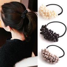 1Pcs New Hair Accessories Fashion Pearl Elastic Rubber Bands Headwear For Women Girl Elastic Hair Band Scrunchy Hair Jewelry