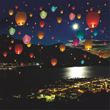 10pcs Halloween SKY KongMing Balloons Wishing Lanterns Flying Light Halloween Chinese Kite Lantern Air Balloon  TY0109