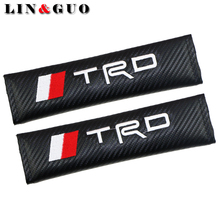 LINGUO 2PCS Car Stickers Case For Toyota TRD Corolla 2008 Avensis Rav4 Racing Auto Emblems Car Styling(China)
