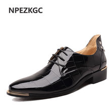 NPEZKGC Big Size 38-48 Designed Men Spring Autumn Pu Flats Good Quality  Breathable Dress decf3e5cc66c
