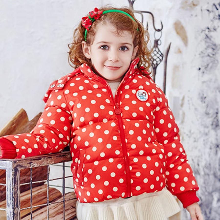 Girls Winter Thicken Children Outerwear Warm Coat Short Children Clothes Winter Girls Polka Dot Down Parkas Fashion 50F1559Одежда и ак�е��уары<br><br><br>Aliexpress