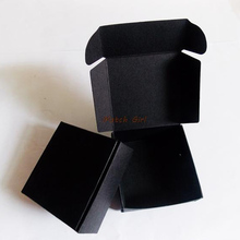 100pcs/lot-5.5*5.5*2.5cm Black Paper Pasty Boxes Storage Trinkets Aircraft box Candy Biscuit Necklace Jewelry Packaging