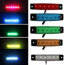 Dropshipping Wholesale Newest Hot Selling 10 PCS 6 LED Truck Lorries Bus Clearance Side Marker Indicators Light Lamp Amber Gift(China)