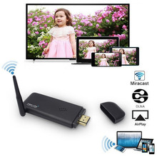 E2 MediaGo Miracast Airplay Receiver DLNA HDMI Wifi Display Dongle 1080P Full HD Switch-free Adapter TV Stick for IOS Android