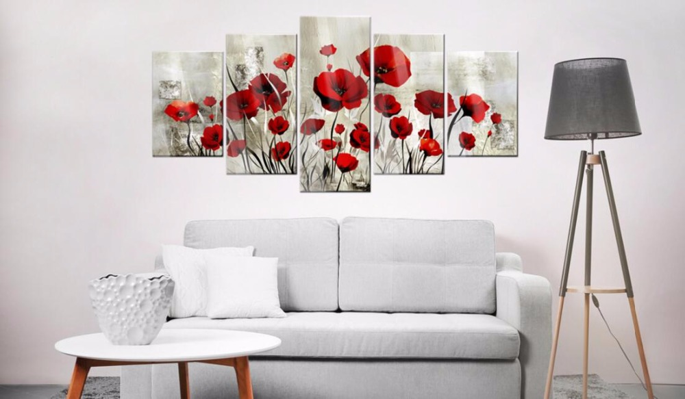 5PCS-Set-Red-Pruple-Poppy-Flower-Art-Print-Frameless-Canvas-Painting-Wall-Picture-Home-Decoration-Choose (1)