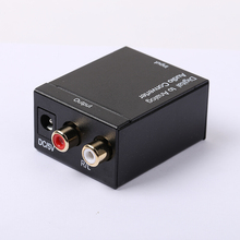 HOT SALE Digital SPDIF Optical Coaxial Toslink to RCA  L/R Analog Audio Converter Adapter Digital To Analog Audio Converter D2A