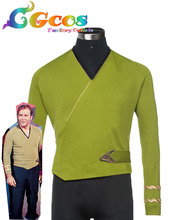 CGCOS Free Shipping Cosplay Costume Star Trek Kirk Green Top Uniform New in Stock Halloween Christmas Party
