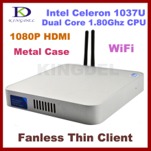 4GB&500GB Widely Used Fanless thin client computer ,Dual core Intel Celeron 1037U 1.8Ghz,HDMI, WIFI,Windows 7,3D Game