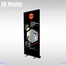 80*200cm 6PCS Black Color Full Aluminum Advertising Portable Roll Up Banner Display Stand,Exhibition Booth Easy Pull Up Stand