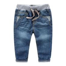 3-10years spring autumn children jeans baby boys pants high quality kids Childrens volume label stripe denim trousers