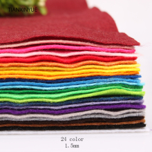 TIANXINYUE Mix 24 Colors Non Woven Soft Felt Fabric 1.5mm Thickness Polyester DIY Cloth For Flower&Animal Toy Felts(China)