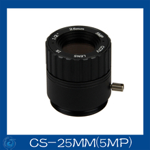 "Free shipping 5MP. cctv camera lens 25mm Fixed Iris lens, 1/2"" cs mount F2.4  for Security Camera,CS-25IR(5MP)"