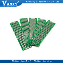 10pcs 2x8cm 2*8 Double Side Prototype PCB diy Universal Printed Circuit Board Free shipping(China)