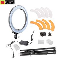 "18""55W 240 LED Ring Light Kit RL-18 Camera Photo/Studio/Phone/Video 5500K Photography Dimmable Ring Lamp with Tripod stand"
