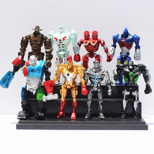 8pcs/lot 12cm Real Steel Toys Atom Ambush Zeus Metro Twin Cities Noisy Boy Action Toy Figures Collection Model