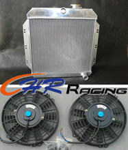 aluminum radiator & fan*2 for Chevy / GM Pickup Truck Manual 1960 1961 1962 brand new(China)