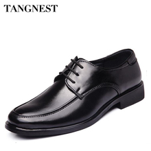 Tangnest 2017 NEW Man Formal Shoes Round Toe Lace-up Wedding Classic Business Man Shoes Spring Fashion Male Dress Shoes XMP750(China)