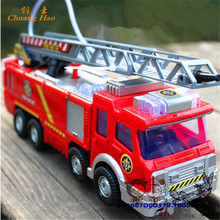Retail Electric Fire Truck Water Spray Car Sam Fire Fighting Truck Child Gift A099