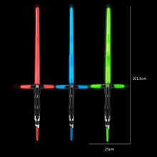 Action Figure Weapons Wars cross Lightsaber with Light Sound Led Blue Saber Darth Vader Jedi Wars laser Sword Toy(China)