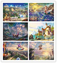 DIY Diamond Painting Cartoon characters Scenery Circular drill diamond Embroidery Cross Stitch Rhinestone Mosaic Painting decor(China)
