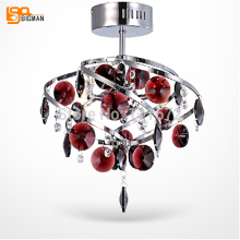 new beautiful red crystal ceiling lights bedroom lamp Diameter 300mm(China)