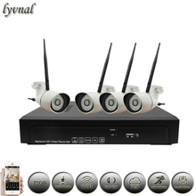 720P WIFI System Wireless IP Camera audio kit p2p 1080P NVR System Kit two way audio Outdoor Security camera CCTV System(China)