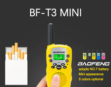 2pcs in pair Mini baofeng Walkie Talkie Kids Toy CB Radio BF-T3 2W UHF462-467(MHz) two way radio Portable Transceiver ham radio
