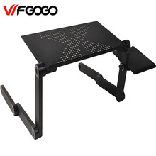 WFGOGO Computer Desks Portable Adjustable Foldable Laptop Notebook Lap PC Folding Desk Table Vented Stand Bed Tray(China)