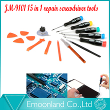 JM-9101 repairing screwdriver set tools Tweezer carving knife repair mobile phone tool laptop computer opener suction cup tool