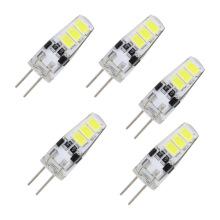 5pcs/lot G4 LED 6LEDs SMD 5733 Bulb DC 12V Corn Candle 5730 Light Replace 5W Compact Fluorescent Lamp For Chandelier