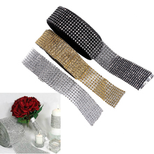 Diamond Wrap Cake Roll 10 Yard Crystal Ribbons Rhinestone Mesh Tulle Roll Bling Cake Wedding Christmas Decorations For Home 2017