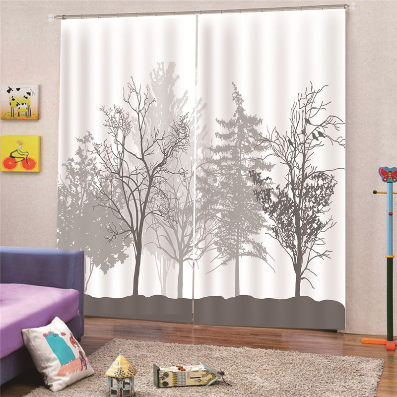 3D Digital Print Customized Plant Modern Luxury Blackout Window Curtain Drapes Living room Bedroom Hotel Wall Tapestry M18