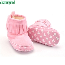 CHAMSGEND Best Seller  Baby Cotton Soft Sole Snow Boots Soft Crib Shoes Toddler Boots S40
