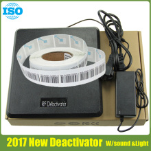 2017 technology eas soft label deactivator with multi function RF8.2Mhz security tag detector 1set