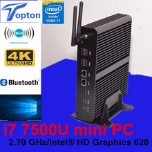Topton the Newest i7 7500u Powerful Fanless Mini PC Computer Support 3D HD Games DP+HDMI Port+300 wifi +3 year warranty(China)
