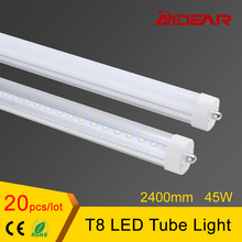 US Stock Free shipping 8ft T8 Led Tube Light 2400mm Lamp Tubes 85-265V Factory Price(China)