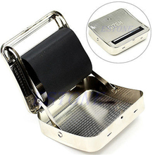 1pc high quality New 70mm Metal Automatic Cigarette Tobacco Smoking Rolling Machine Roller Box