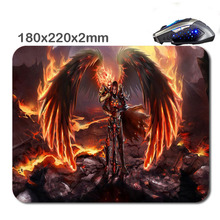 Black magic flame angel New Arrivals Customized Non-Slip Rubber 3D Printer Gaming laptop Durable Nice Mouse mat 220*180*2mm