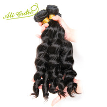 ALI GRACE Hair Malaysian Loose Wave 1 Bundle Natural Color 100% Human Hair Weaving Remy Hair Extension Can Be Dyed