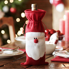 1 pc Santa Claus Wine Bottle Set Cover Bag Christmas Dinner Party Xmas Table Decor - Happy Deal Amy's Store store