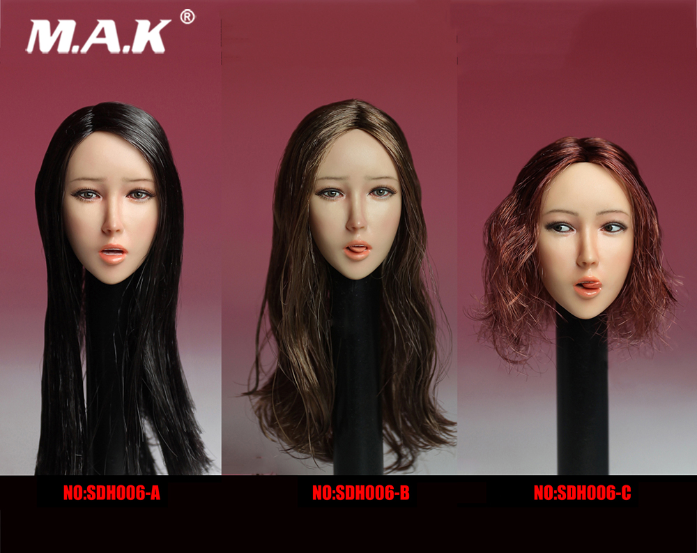 1:6 Scale SDH006 Sexy Asian Beautiful Girl Head Sculpt for 12 inches Action Figure <br>