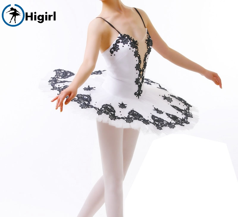black white professional tutu for girls black tutu dance adult ballerina costumes classical ballet tutusBT8934C