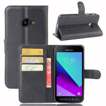 CYBORIS for Samsung Galaxy Xcover 4 G390F Case Leather Phone Cover for Samsung Xcover 4 Flip Cover Stand Wallet Bag Card Holder