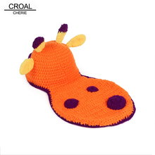 Deer Toys Baby Winter Hat Blanket Newborn Photography Props Kawaii Handmade Kids Crochet Baby Clothes Lovely Toddler Bone