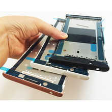 Original New LCD Holder Screen Front Frame For Sony Xperia L1 G3311 G3312 G3313 Front Housing Case Black/White/Pink