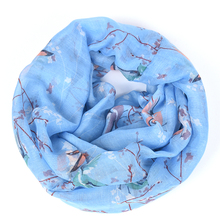Bird infinity scarf women neck flower brand echarpes foulards femme bufandas mujer 2016 shawls and scarves prices in euros(China)