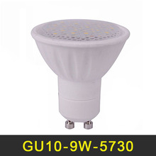 NEW LED Lamp GU10 9W LED Light Bulb 110V 220V Lampada LED Spotlight SMD5730 Dimmable Ceramic Chandelier Lights Lighting