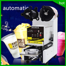 free shipping hot sale commercial Automatic Bubble Boba Tea Coffee PP,PE,PC Plastic Cup Sealing Sealer Machine